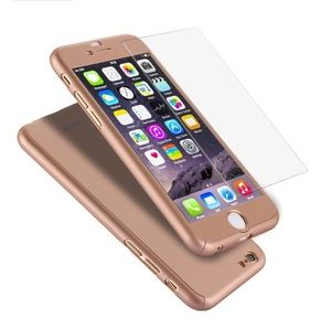 Accessories - Rose Gold iPhone 6 Plus Case + Screen Protector
